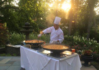 alabardero catering paella sunset