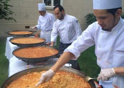 alabardero catering paellas station